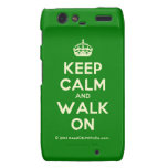 [Crown] keep calm and walk on  Motorola Droid RAZR Cases