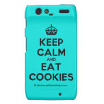 [Crown] keep calm and eat cookies  Motorola Droid RAZR Cases