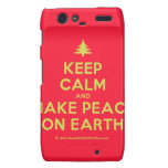[Xmas tree] keep calm and make peace on earth  Motorola Droid RAZR Cases
