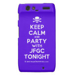 [Skull crossed bones] keep calm and party with jfgc tonight  Motorola Droid RAZR Cases
