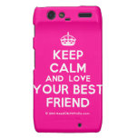 [Crown] keep calm and love your best friend  Motorola Droid RAZR Cases