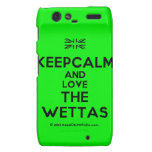 [UK Flag] keepcalm and love the wettas  Motorola Droid RAZR Cases