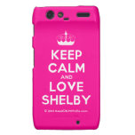 [Knitting crown] keep calm and love shelby  Motorola Droid RAZR Cases