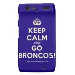 [Crown] keep calm and go broncos!  Motorola Droid RAZR Cases