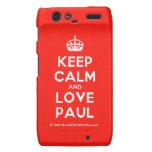 [Crown] keep calm and love paul  Motorola Droid RAZR Cases