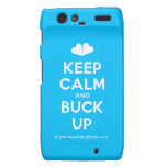 [Two hearts] keep calm and buck up  Motorola Droid RAZR Cases
