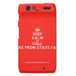 [Crown] keep calm and call jake from state farm  Motorola Droid RAZR Cases