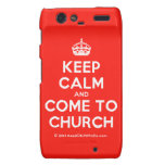[Crown] keep calm and come to church  Motorola Droid RAZR Cases