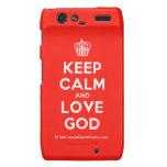 [Cupcake] keep calm and love god  Motorola Droid RAZR Cases