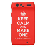 [Crown] keep calm and make one  Motorola Droid RAZR Cases