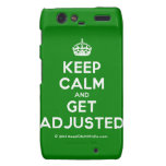 [Crown] keep calm and get adjusted  Motorola Droid RAZR Cases