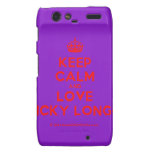 [Crown] keep calm and love nicky longo  Motorola Droid RAZR Cases