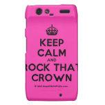 [Crown] keep calm and rock that crown  Motorola Droid RAZR Cases