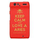 [Skull crossed bones] keep calm and love a aries  Motorola Droid RAZR Cases