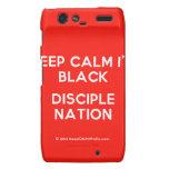 keep calm i'm black disciple nation  Motorola Droid RAZR Cases