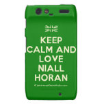 [UK Flag] keep calm and love niall horan  Motorola Droid RAZR Cases