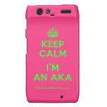 [Crown] keep calm i'm an aka  Motorola Droid RAZR Cases