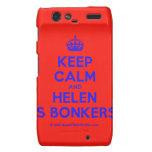 [Crown] keep calm and helen is bonkers  Motorola Droid RAZR Cases