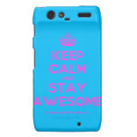 [Crown] keep calm and stay awesome  Motorola Droid RAZR Cases