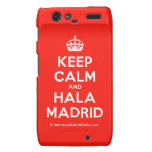 [Crown] keep calm and hala madrid  Motorola Droid RAZR Cases