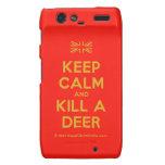 [UK Flag] keep calm and kill a deer  Motorola Droid RAZR Cases