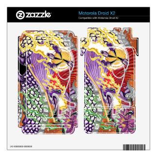 Motorola Droid X2 Dragon Of The Lotus Vinyl Skins Motorola Droid X2 Skin