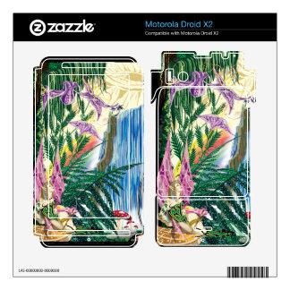 Motorola Droid X2 Miranda By The Waterfall Vinyl S Motorola Droid X2 Decals