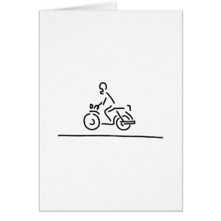 motorradfahrer motorrad strasse tarjeta de felicitación