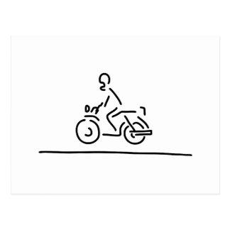 motorradfahrer motorrad strasse tarjetas postales