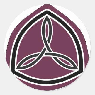Motorsport Sisterhood Logo (arced crop) Classic Round Sticker