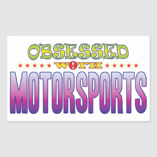 Motorsports 2 Obsessed Rectangular Sticker