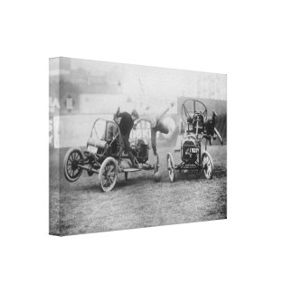 """Motorsports del coche de deportes del """"polo auto"""" impresión en lienzo estirada"""