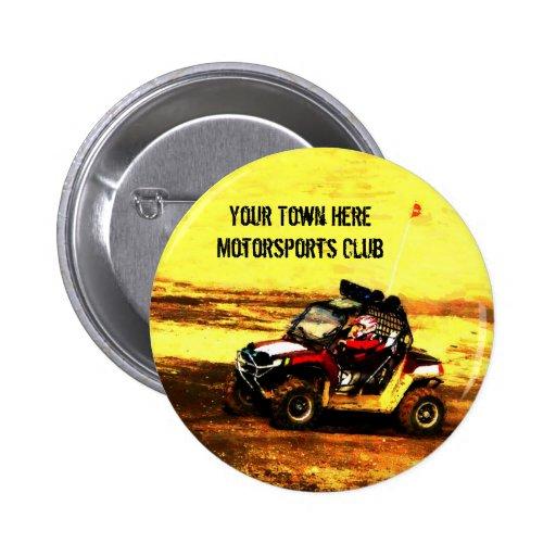 Motorsports UTV Offroad Club Pinback Button