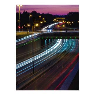 Motorway lights card