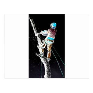 Motosierra eléctrica del stihl del arborista del tarjetas postales