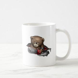 Motosierra enojada del oso taza