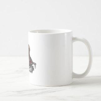 Motosierra enojada del oso taza básica blanca