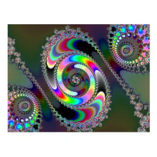 Motosierra - fractal tarjetas postales