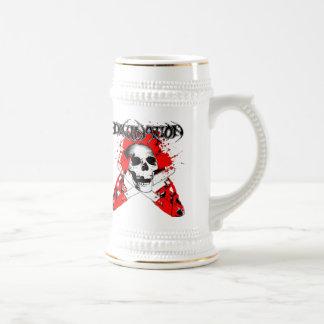 motosierra jarra de cerveza