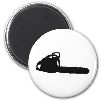 motosierra negra imán redondo 5 cm