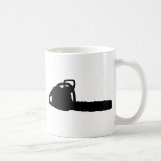 motosierra negra taza clásica