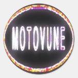 MOTOVUNE neon Round Stickers