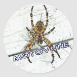 MOTOVUNE spider color Round Stickers