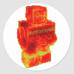 MOTOVUNE warm robot Round Sticker
