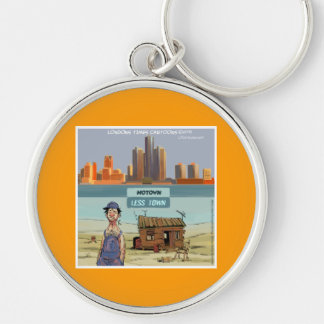 Motown LessTown Funny Keychain