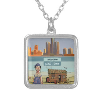Motown LessTown Funny Silver Plated Necklace