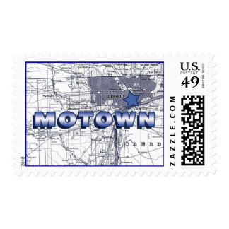 Motown Map Postage Stamp