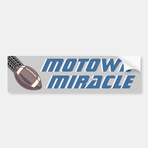 Motown Miracle Car Bumper Sticker