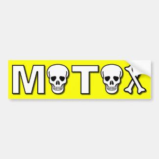 Motox Skulls Dirt Bike Motocross Bumper Sticker