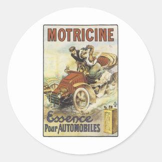 Motricine Essence Pour Automobiles Classic Round Sticker